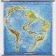 Cristina Barroso, Brasil Global, 2015 Acryl und Collage auf Landkarte, 200×194 cm